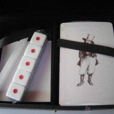 Barajas de cartas: ESTUCHE CON BARAJA DE CARTAS Y 5 DADOS. A ESTRENAR.. Lote 43596989