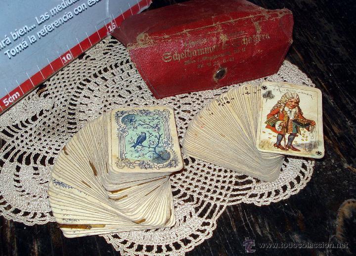 Barajas de cartas: ANTIGUAS RARAS BARAJAS ALEMANAS 2 MAZOS Piatnik & Söhne Kartenstempel 4000 Kronen CIRCA 1920 - Foto 2 - 43838521