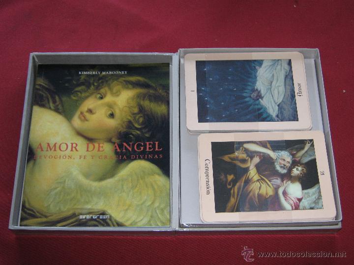 Barajas de cartas: AMOR DE ANGEL - DEVOCION FE Y GRACIA DIVINAS - KIMBERLY MARROONEY - ESTUCHE CON LIBRO Y 40 CARTAS - Foto 3 - 62694964