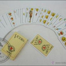 Barajas de cartas: BARAJA CARTAS CLÁSICA. ESPAÑOLA - HERACLIO FOURNIER - 50 CARTAS - PUBLICIDAD TABACOS VICTORIA. Lote 44051876