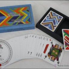 Barajas de cartas: 2 BARAJAS DE CARTAS DE POKER - HERACLIO FOURNIER - 110 CARTAS - ARTS ET NATURE. Lote 44053463