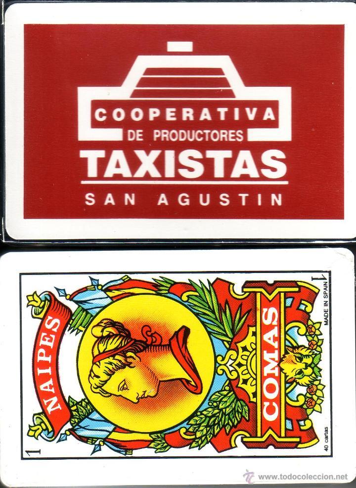 TAXISTAS COOPERATIVA SAN AGUSTIN - BARAJA ESPAÑOLA 40 CARTAS (Juguetes y Juegos - Cartas y Naipes - Otras Barajas)