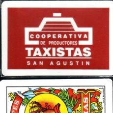 Barajas de cartas: TAXISTAS COOPERATIVA SAN AGUSTIN - BARAJA ESPAÑOLA 40 CARTAS. Lote 44118551