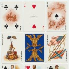 Barajas de cartas: JUEGO DE POKER - GUERRA CIVIL AMERICANA -.FOURNIER. VITORIA (SPAIN), 1981.. Lote 139390617