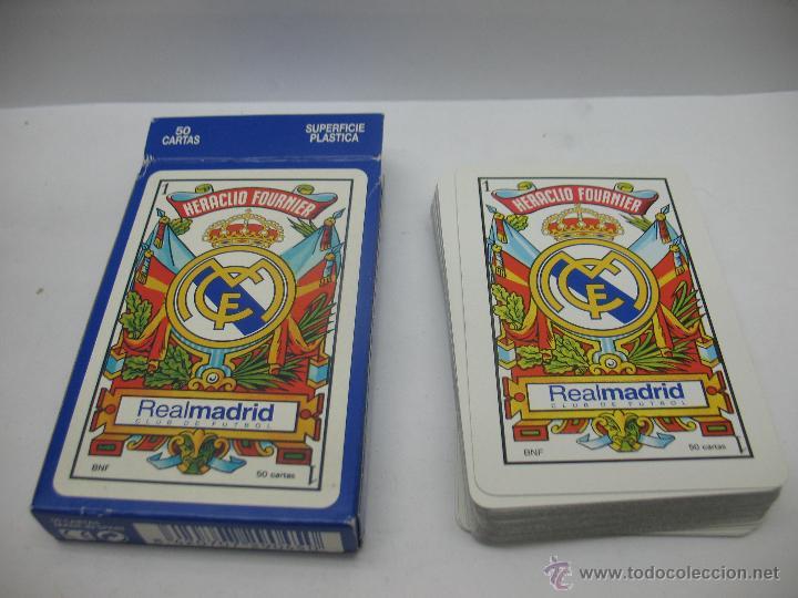 BARAJA DE CARTAS REAL MADRID,HERACLIO FOURNIER (Juguetes y Juegos - Cartas y Naipes - Baraja Española)