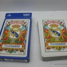 Barajas de cartas: BARAJA DE CARTAS REAL MADRID,HERACLIO FOURNIER. Lote 44253586