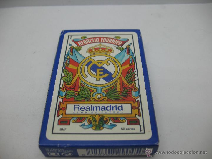 Barajas de cartas: Baraja de cartas Real Madrid,Heraclio Fournier - Foto 2 - 44253586