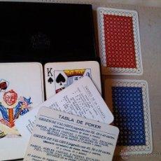Barajas de cartas: CAJA ORIGINAL DOS BARAJA DE CARTAS NAIPES ORIGINALES HIJOS HERACLIO FOURNIER CANASTA POKER BRIDGE. Lote 44265763