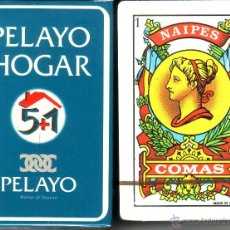 Barajas de cartas: PELAYO HOGAR SEGUROS - BARAJA ESPAÑOLA 50 CARTAS. Lote 44355542