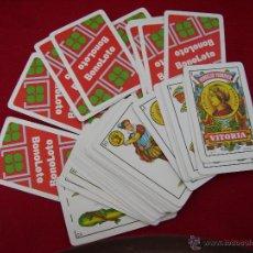 Barajas de cartas: **BARAJA DE CARTAS,--NAIPE ESPAÑOL FOURNIER-- PUBLICIDAD DE BONOLOTO**. Lote 44379557