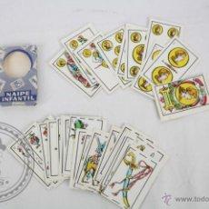 Barajas de cartas: BARAJA ESPAÑOLA NAIPE INFANTIL - MINIATURA - COMPLETA 40 NAIPES - CON FUNDA ORIGINAL. Lote 44519384