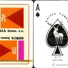 Barajas de cartas: SORIA HNOS - BARAJA POKER. Lote 44530654