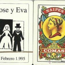 Barajas de cartas: JOSE Y EVA - BARAJA ESPAÑOLA DE 40 CARTAS. Lote 16873275