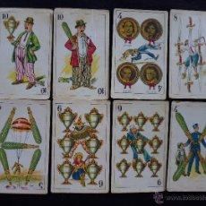 Barajas de cartas: ANTIGUOS CROMOS BARAJA COLECCION CHOCOLATES AMATLLER CINE ARTISTAS RAROS. Lote 44668866