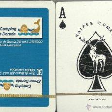 Barajas de cartas: CAMPING SIRENA DORADA - BARAJA DE POKER. Lote 44673351