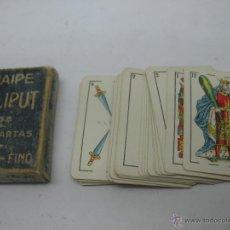 Barajas de cartas: ANTIGUA BARAJA ESPAÑOLA FOURNIER VITORIA NAIPES LILIPUT. Lote 44680698
