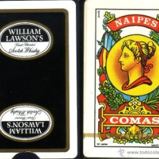 Barajas de cartas: WILLIAM LAWSOM'S SCOTCH WHISKY - BARAJA ESPAÑOLA 50 CARTAS. Lote 44688298