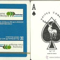 Barajas de cartas: CAMPING CALA MONTGO - BARAJA DE POKER. Lote 44688687