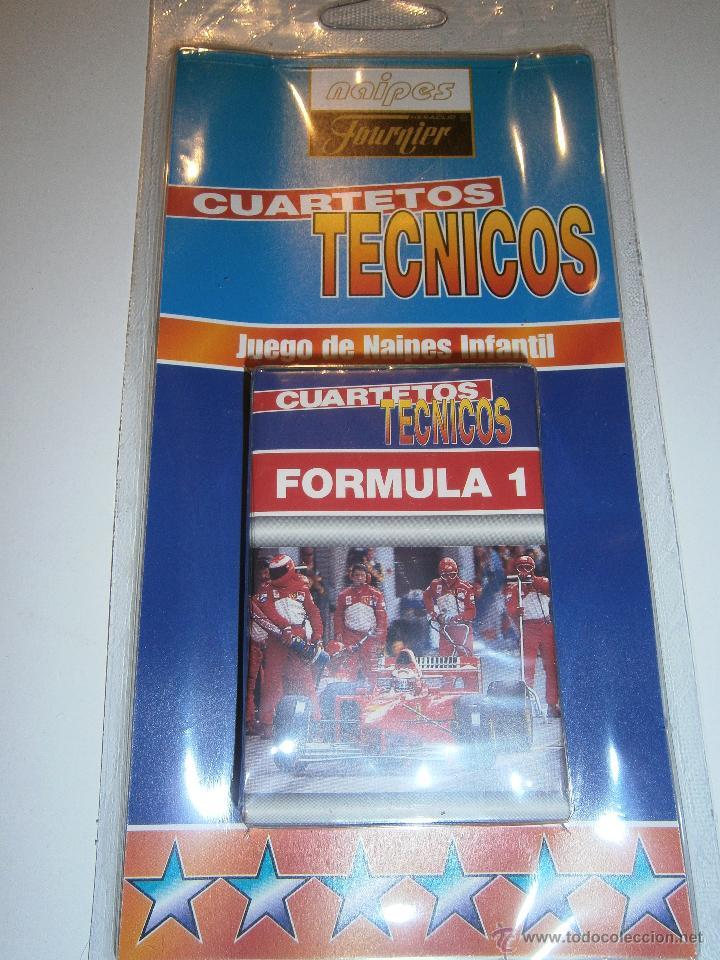 BARAJA FOUNIER. *CUARTETOS TÉCNICOS.FORMULA 1*. NUEVA.AÑO 2000 (Juguetes y Juegos - Cartas y Naipes - Barajas Infantiles)