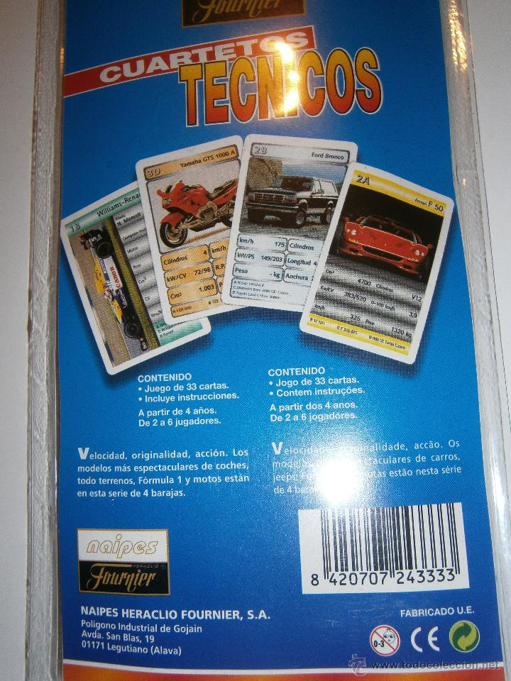 Barajas de cartas: Baraja FOUNIER. *Cuartetos técnicos.Formula 1*. Nueva.Año 2000 - Foto 2 - 47172811