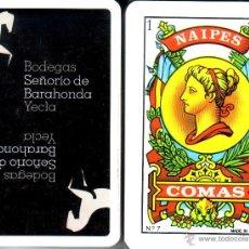 Barajas de cartas: BODEGAS SEÑORIO DE BARAHONDA - YECLA - BARAJA ESPAÑOLA 40 CARTAS. Lote 44726438