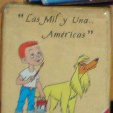 Barajas de cartas: LAS MIL Y UNA AMÉRICAS FOURNIER JUEGO DE NAIPES CARTAS BARAJA INFANTIL DIBUJOS ANIMADOS PRECINTADA. Lote 44756002
