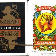Barajas de cartas: 100 PIPERS SCOTCH WHISKY - BARAJA ESPAÑOLA 40 CARTAS. Lote 44769448
