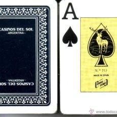 Barajas de cartas: CASINOS DEL SOL - ARGENTINA - BARAJA POKER. Lote 44857038