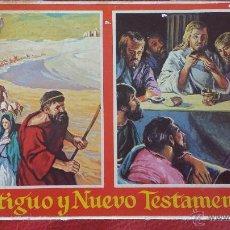 Barajas de cartas: CARTAS TAROTS ANTIGUO Y NUEVO TESTAMENTO EN 2 BARAJAS- FOURNIER- COMPLETO- ORIGINAL. Lote 44857196