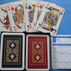Barajas de cartas: 2 BARAJAS ANTIGUAS DE CARTAS CLÁSICAS. POKER BRIDGE. ESTAMPADO FLOR DE LIS. Lote 44922412