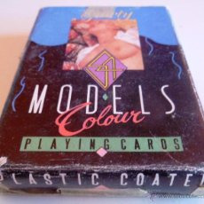 Barajas de cartas: BARAJA 54 NUDE MODELS COLOUR PLAYING CARDS. PLASTIC COATED. Lote 45024821