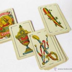 Barajas de cartas: RARA BARAJA DE HERACLIO FOURNIER Nº 1. E. CLASE OPACA DE 1ª. NAIPE OPACO MARFIL. TIMBRE 1,25. 1931. Lote 45031087