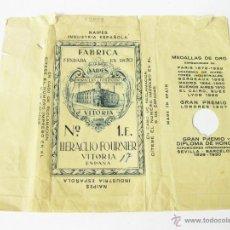 Barajas de cartas: ENVOLTORIO DE UNA BARAJA FOURNIER Nº 1.E. . NAIPES INDUSTRIA ESPAÑOLA.. Lote 45063639