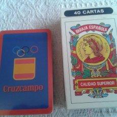 Barajas de cartas: BARAJA DE CARTAS ESPAÑOLA PUBLICIDAD CRUZCAMPO NUEVAS, A ESTRENAR CON SU PRECINTO Y CAJA. Lote 53228049