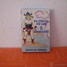 Barajas de cartas: BARAJA DE CARTAS EL JUEGO DE LAS 5 FAMILIAS COMPLETA BARAJAS CARTA. Lote 45168000