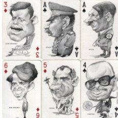 Barajas de cartas: 2 BARAJAS CARICATURAS DE ORTUÑO-FOURNIER-AÑO 1973.-. Lote 122919619