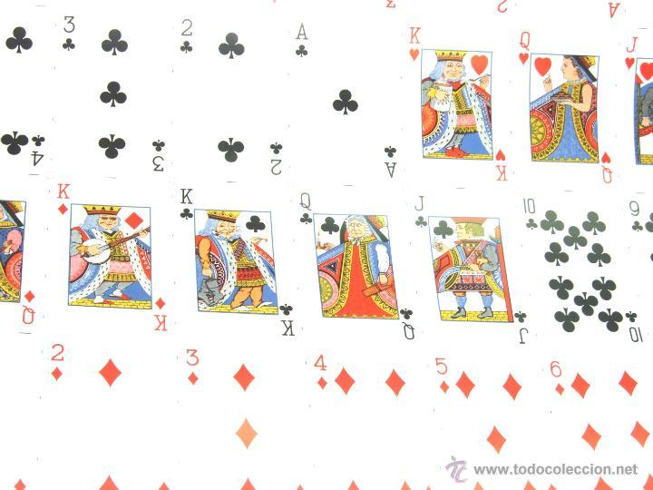 Barajas de cartas: PLIEGO CON 2 BARAJAS COMPLETAS DE POKER - BRIDGE * TIFFANY & CO. New York * 68 x 94 cm. PIEZA RARA! - Foto 3 - 45267704