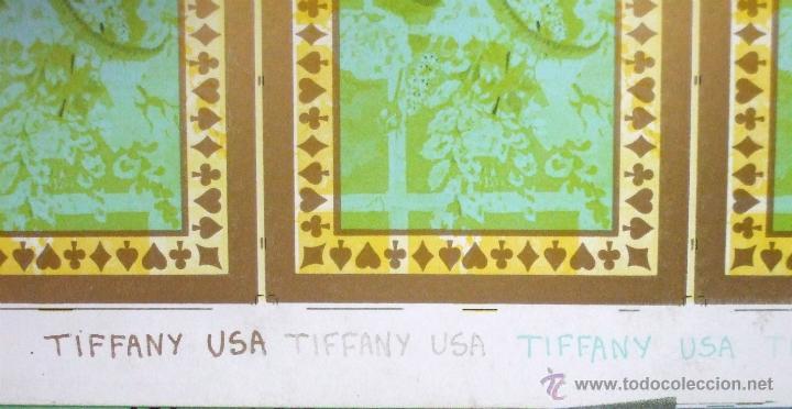 Barajas de cartas: PLIEGO CON 2 BARAJAS COMPLETAS DE POKER - BRIDGE * TIFFANY & CO. New York * 68 x 94 cm. PIEZA RARA! - Foto 8 - 45267704