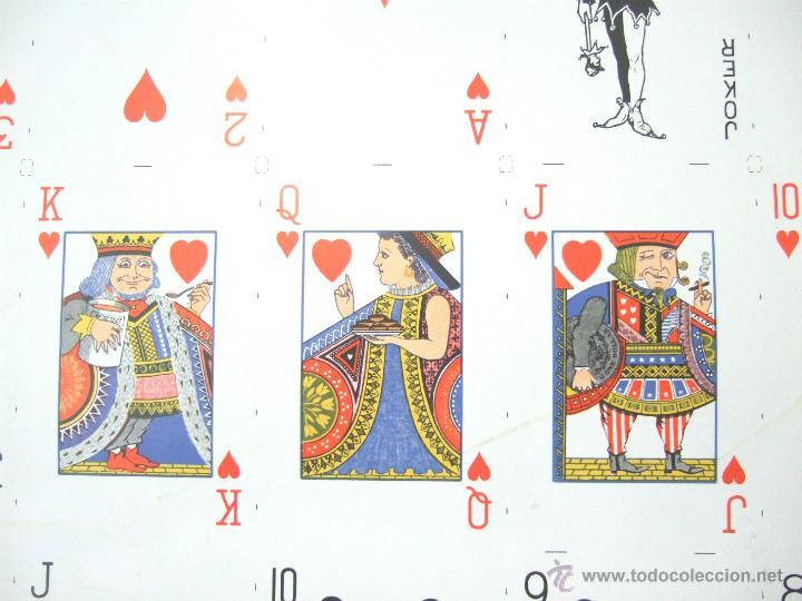 Barajas de cartas: PLIEGO CON 2 BARAJAS COMPLETAS DE POKER - BRIDGE * TIFFANY & CO. New York * 68 x 94 cm. PIEZA RARA! - Foto 9 - 45267704