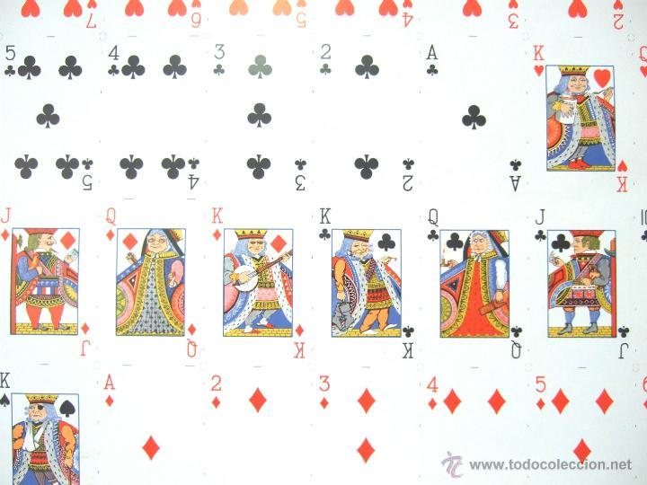 Barajas de cartas: PLIEGO CON 2 BARAJAS COMPLETAS DE POKER - BRIDGE * TIFFANY & CO. New York * 68 x 94 cm. PIEZA RARA! - Foto 16 - 45267704