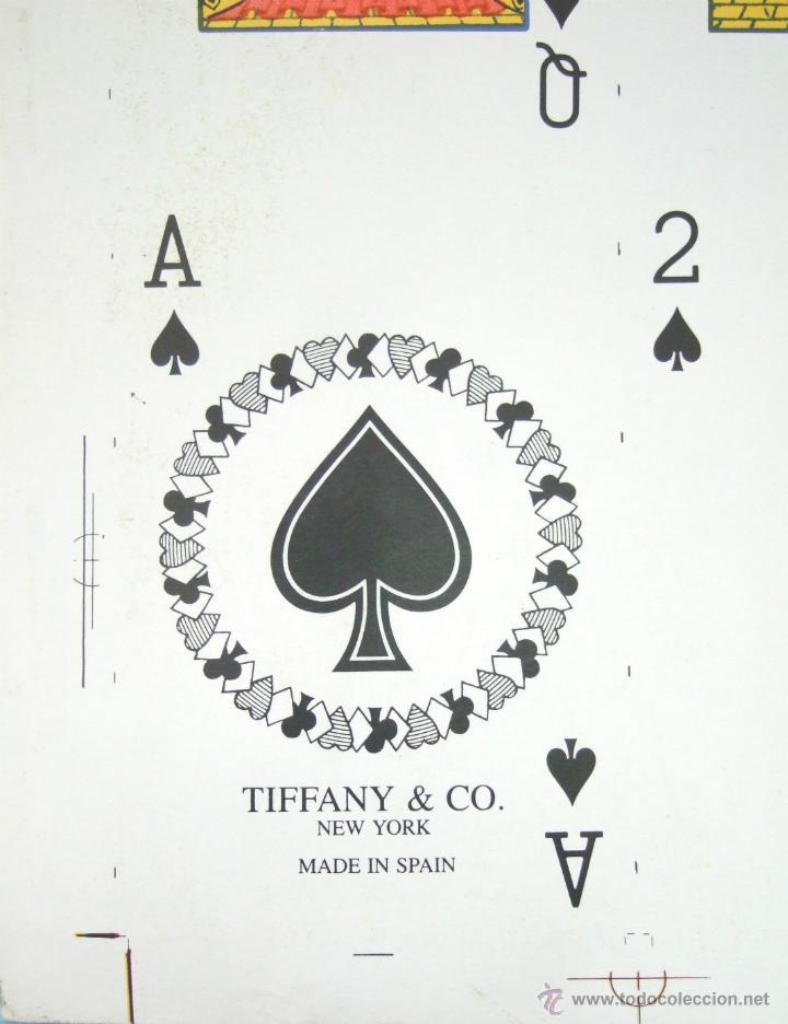 Barajas de cartas: PLIEGO CON 2 BARAJAS COMPLETAS DE POKER - BRIDGE * TIFFANY & CO. New York * 68 x 94 cm. PIEZA RARA! - Foto 18 - 45267704
