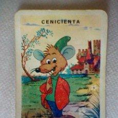 Baralhos de cartas: CARTA DE LA BARAJA WALT DISNEY ANTIGUA CREO DESFILE CENICIENTA JAK FLOR MUY SOBADA . Lote 45390695