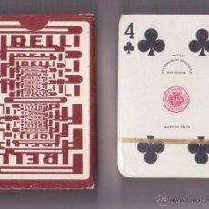 Barajas de cartas: BARAJA DE CARTAS NAIPES COMAS NEGSA PUBLICIDAD PIRELLI PRECINTADA. Lote 45543784