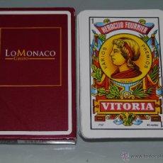 Barajas de cartas: BARAJA DE CARTAS ESPAÑOLA. FOURNIER. COLCHONES GRUPO LO MONACO. . Lote 45618603