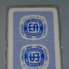Barajas de cartas: BARAJA DE CARTAS ALEMANA. SEGUROS EA 100 ANIVERSARIO 1882 1982. PRECINTADA. Lote 45618676