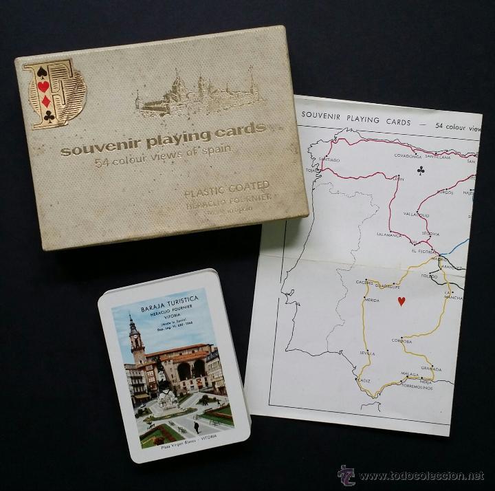 Barajas de cartas: Naipes , Baraja turistica Heraclio Fournier. 1966. - Foto 3 - 45709164