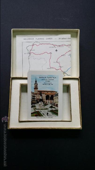 Barajas de cartas: Naipes , Baraja turistica Heraclio Fournier. 1966. - Foto 4 - 45709164