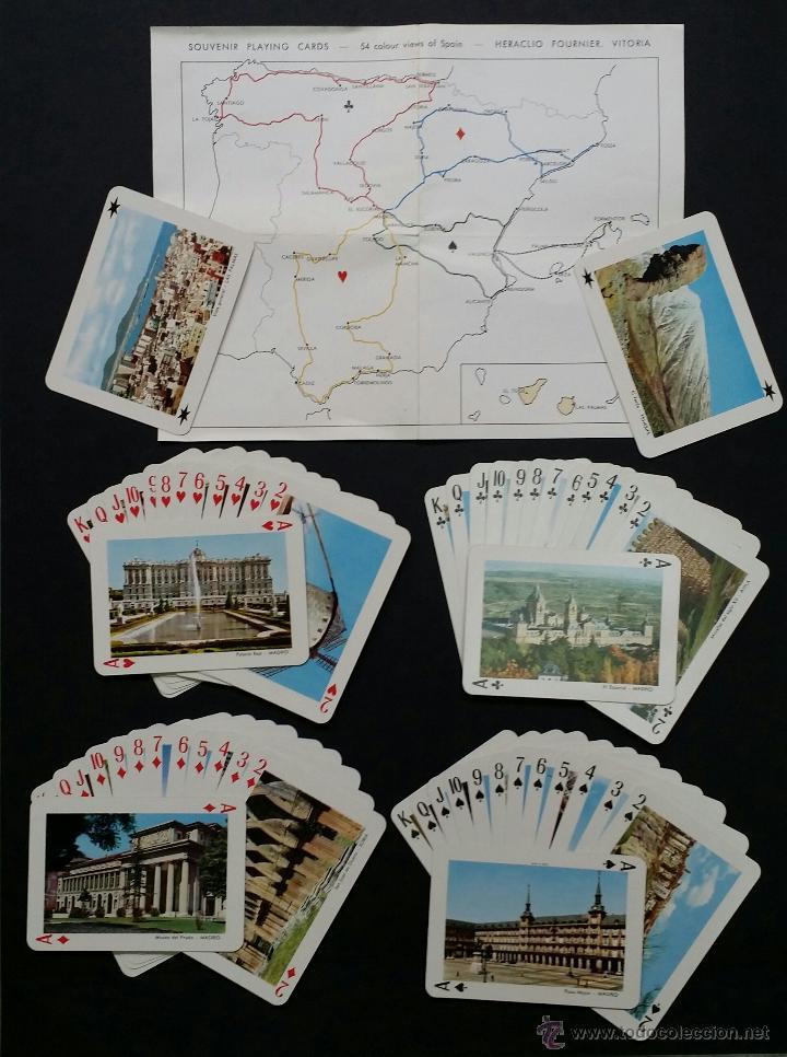 Barajas de cartas: Naipes , Baraja turistica Heraclio Fournier. 1966. - Foto 6 - 45709164