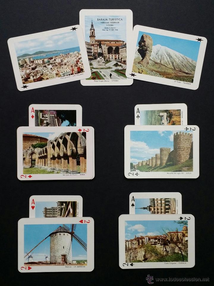 Barajas de cartas: Naipes , Baraja turistica Heraclio Fournier. 1966. - Foto 7 - 45709164