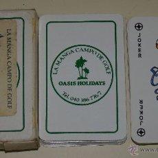 Barajas de cartas: BARAJA DE CARTAS DE PÓKER. CAMPO DE GOLF DE LA MANGA DEL MAR MENOR, MURCIA. Lote 45787579